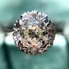 1.02ctw Vintage Old Mine Cut Diamond Halo Ring 9