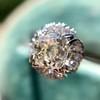 1.02ctw Vintage Old Mine Cut Diamond Halo Ring 14