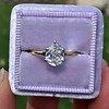 1.04ct Antique Pear Cut Diamond Solitaire