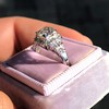 1.10ct Old European Cut Diamond Art Deco Frame Ring GIA J VS2 11