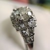 1.10ct Old European Cut Diamond Art Deco Frame Ring GIA J VS2 15