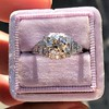 1.10ct Old European Cut Diamond Art Deco Frame Ring GIA J VS2 18