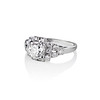 1.10ct Old European Cut Diamond Art Deco Frame Ring GIA J VS2 1