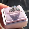 1.10ct Old European Cut Diamond Art Deco Frame Ring GIA J VS2 7