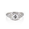 1.10ct Old European Cut Diamond Art Deco Frame Ring GIA J VS2 0