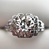 1.10ct Old European Cut Diamond Art Deco Frame Ring GIA J VS2 4