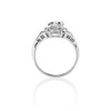 1.10ct Old European Cut Diamond Art Deco Frame Ring GIA J VS2 2