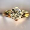 1.14ct Antique Transitional Cut Diamond Solitaire GIA 6