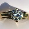 1.14ct Antique Transitional Cut Diamond Solitaire GIA 20