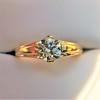 1.14ct Antique Transitional Cut Diamond Solitaire GIA 12