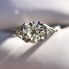 1.15ctw Vintage 3-Stone Diamond Ring 20