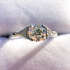 1.15ctw Vintage 3-Stone Diamond Ring 6