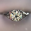 1.15ctw Vintage 3-Stone Diamond Ring 1