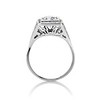 1.22ct Vintage Old European Cut Diamond Illusion Solitaire Ring 3