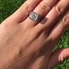 1.22ct Vintage Old European Cut Diamond Illusion Solitaire Ring