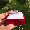 1.22ct Vintage Old European Cut Diamond Illusion Solitaire Ring 23