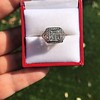 1.22ct Vintage Old European Cut Diamond Illusion Solitaire Ring 21