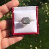 1.22ct Vintage Old European Cut Diamond Illusion Solitaire Ring 22