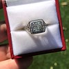 1.22ct Vintage Old European Cut Diamond Illusion Solitaire Ring 24