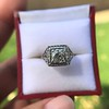 1.22ct Vintage Old European Cut Diamond Illusion Solitaire Ring 15
