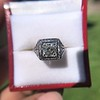 1.22ct Vintage Old European Cut Diamond Illusion Solitaire Ring 17