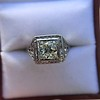 1.22ct Vintage Old European Cut Diamond Illusion Solitaire Ring 12