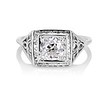 1.22ct Vintage Old European Cut Diamond Illusion Solitaire Ring 0