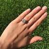 1.22ct Vintage Old European Cut Diamond Illusion Solitaire Ring 14