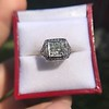 1.22ct Vintage Old European Cut Diamond Illusion Solitaire Ring 19