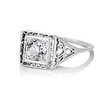 1.22ct Vintage Old European Cut Diamond Illusion Solitaire Ring 1
