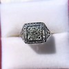 1.22ct Vintage Old European Cut Diamond Illusion Solitaire Ring 7