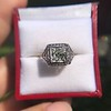 1.22ct Vintage Old European Cut Diamond Illusion Solitaire Ring 18