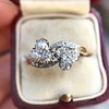 1.25ctw Antique Double Trefoil Diamond Ring 5