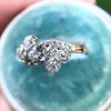 1.25ctw Antique Double Trefoil Diamond Ring 15