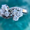 1.25ctw Antique Double Trefoil Diamond Ring 18