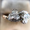 1.25ctw Antique Double Trefoil Diamond Ring 9