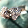 1.25ctw Antique Double Trefoil Diamond Ring 11