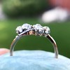 1.25ctw Antique Double Trefoil Diamond Ring 13