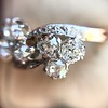 1.25ctw Antique Double Trefoil Diamond Ring 7