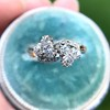 1.25ctw Antique Double Trefoil Diamond Ring 14