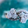 1.25ctw Antique Double Trefoil Diamond Ring 17
