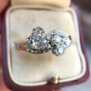 1.25ctw Antique Double Trefoil Diamond Ring 6