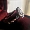 1.27ct Antique Pear Diamond Ring, GIA F VS2 28