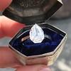 1.27ct Antique Pear Diamond Ring, GIA F VS2 8