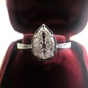 1.27ct Antique Pear Diamond Ring, GIA F VS2 27