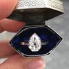 1.27ct Antique Pear Diamond Ring, GIA F VS2 14