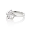 1.27ct Antique Pear Diamond Ring, GIA F VS2 1