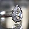 1.27ct Antique Pear Diamond Ring, GIA F VS2 23