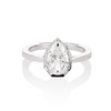 1.27ct Antique Pear Diamond Ring, GIA F VS2 0