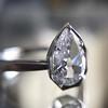 1.27ct Antique Pear Diamond Ring, GIA F VS2 22